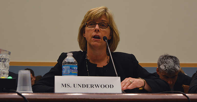 Vermont community banker Kathryn G. Underwood testifies before a House Judiciary subcommittee about bad-faith patent claims.