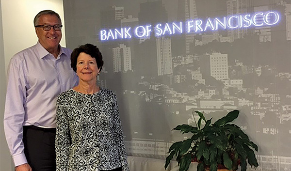 Wendy Ross and Ed Obuchowski of Bank of San Francisco