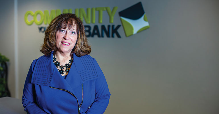 Julie Montgomery was part of a team that updated and unified Community Bank's external branding and communications. Photo: Narayan Mahon
