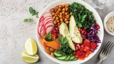 bowl of healthy food