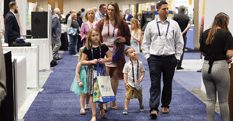 A family at ICBA Live