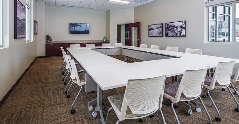 Meeting room inside the bank branch