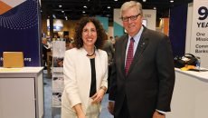 President and CEO Rebeca Romero Rainey and past chairman Preston Kennedy