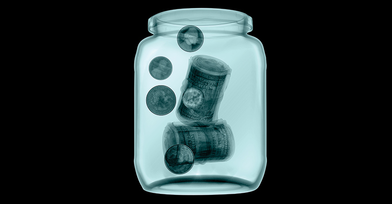 jar with money in it