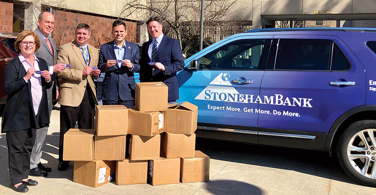 A donation made by StonehamBank