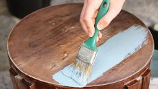 painting a stool