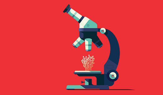 Illustration of a microscope