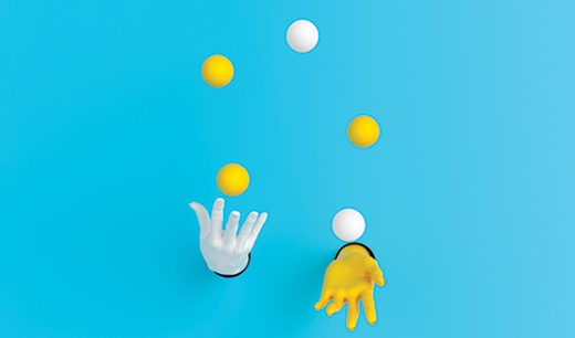 juggling photo illustration