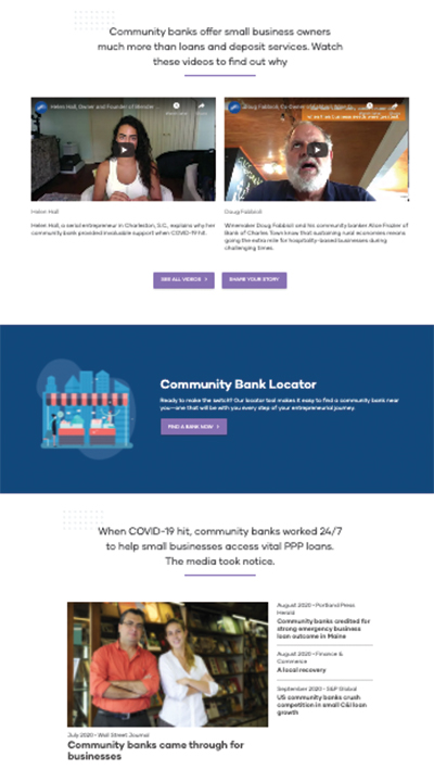 banklocally website screenshot