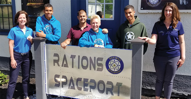Alice Frazier with Rations Spaceport family